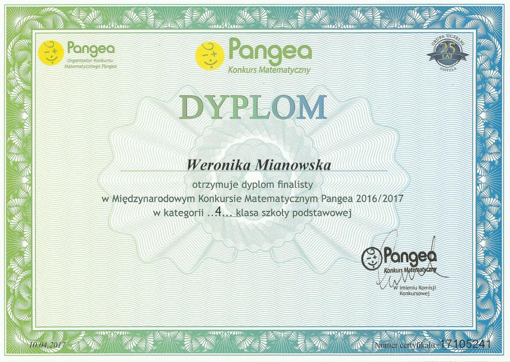 Dyplom Weroniki
