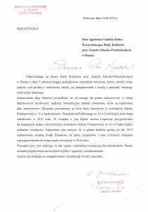Odpowiedź Burmistrza na pismo z 05.06.2014