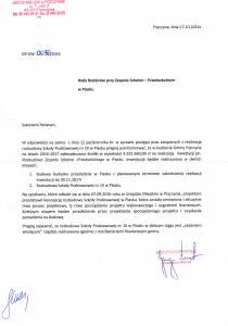 Odpowiedź Burmistrza na pismo z dnia 12.10.2016