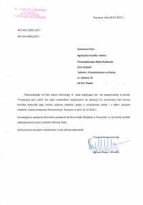 Odpowiedź Komisji Oświaty na pismo z 13.12.2016