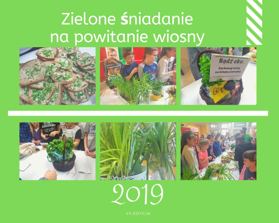 Zielone śniadanie na powitanie wiosny 2019