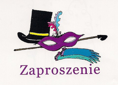 Zaproszenie Na Bal Maskowy Zespół Szkolno Przedszkolny W Piasku