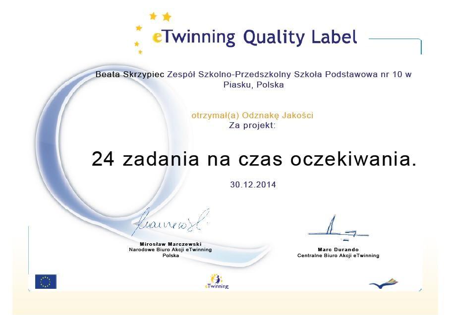 certyfikat nauczyciela