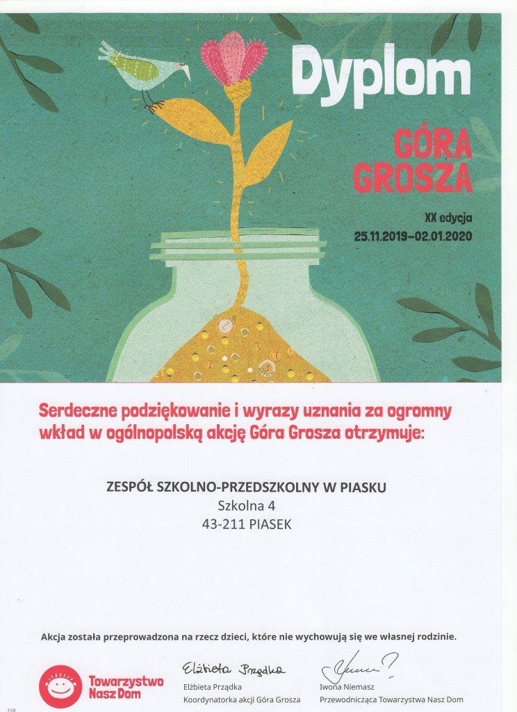 dyplom Góra grosza ZSP i M127