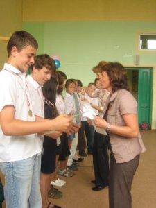 Medale dla sportowców z klas 4