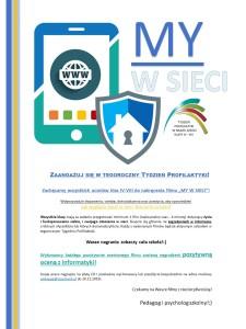 MY W SIECI - Zadanie multimedialne dla wszystkich uczniów klas IV-VIII!