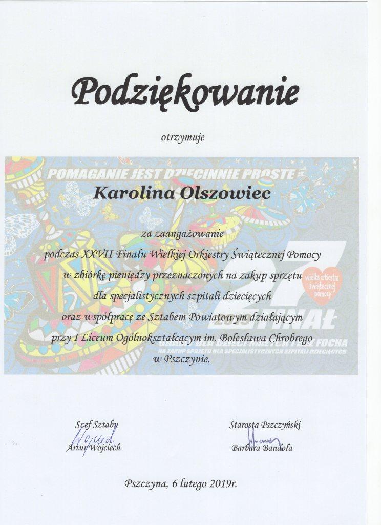 podziekowanie Karolina Olszowiec023