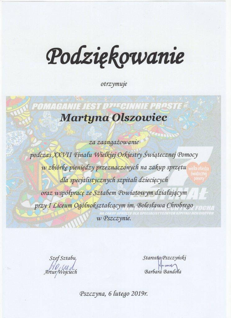 podziekowanie Martyna Olszowiec024
