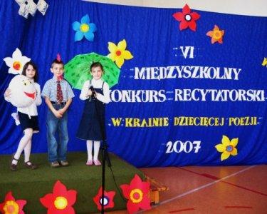 miedzyszkolny konkurs recytatorski